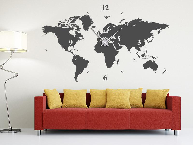 wanduhren von designscape mit wandtattoo ziffernblatt. Black Bedroom Furniture Sets. Home Design Ideas