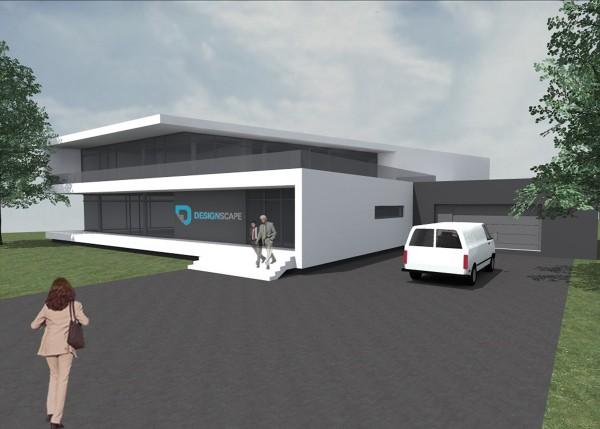 Entwurf von Nicolas Woll zum Gebäude von Designscape