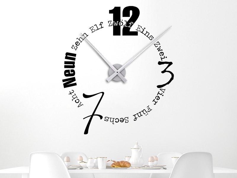 Wandtattoo Uhr Designerzeit