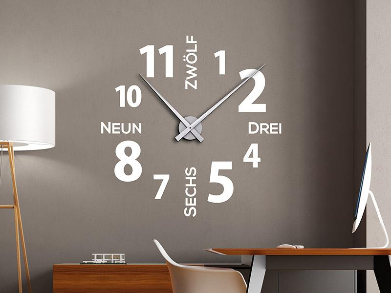Wandtattoo Uhr moderne Zeiten