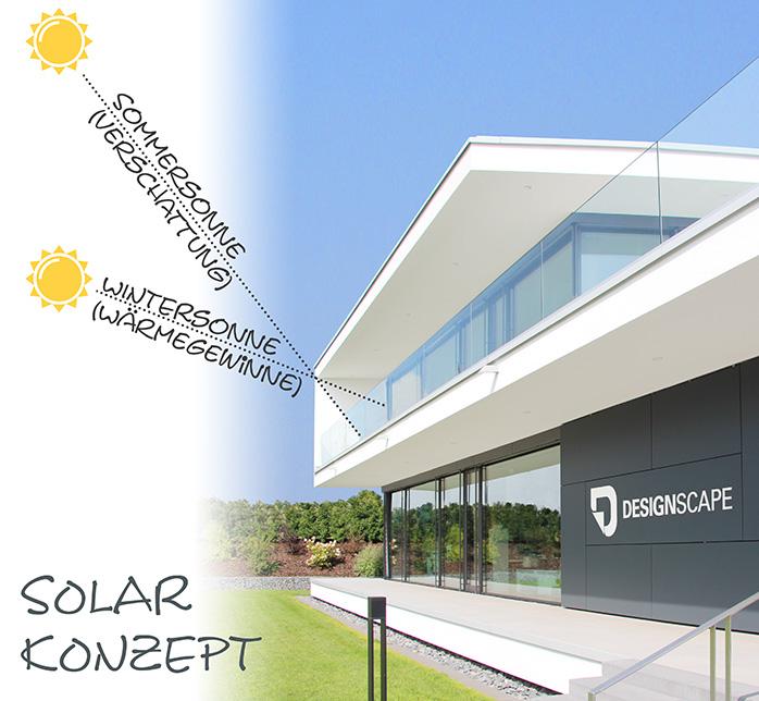 Solarkonzept von Designscape mit optimaler Verschattung