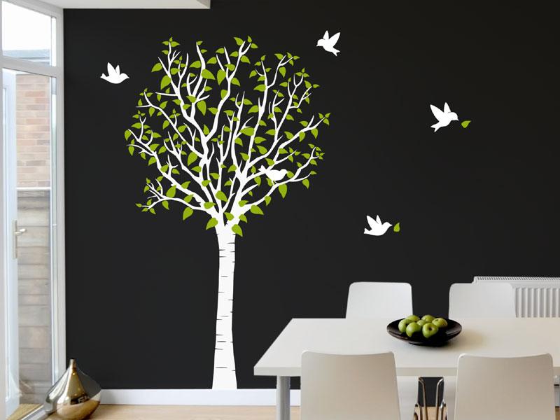 Baum Wandtattoo mit Vögeln