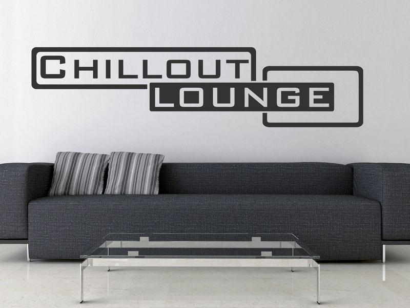 Wandtattoo Schrift Lounge