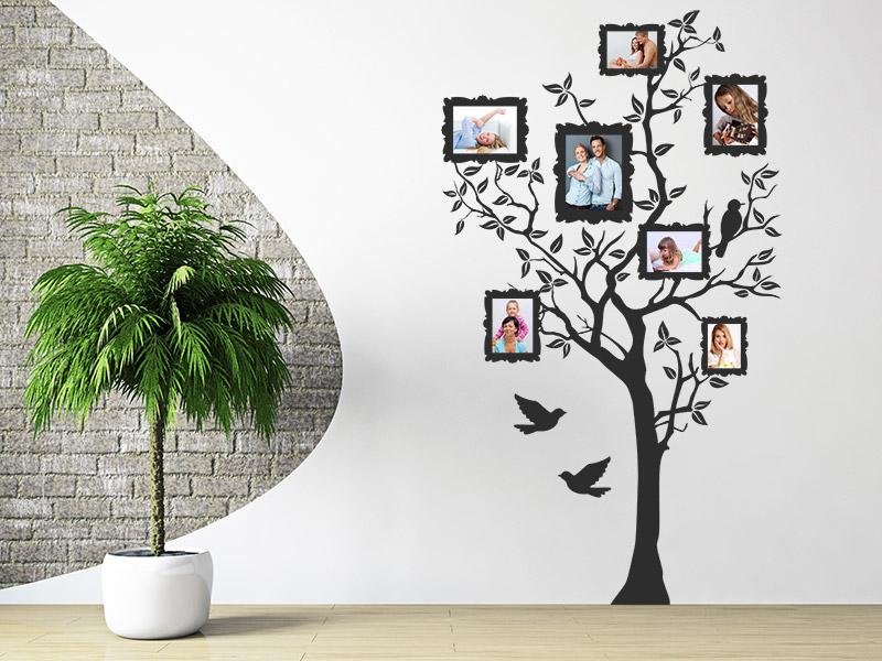 Foto Baum Fotorahmen-Wandtattoos