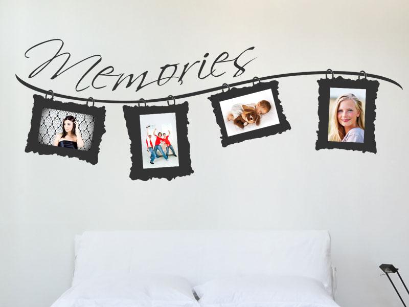 Memories Fotorahmen Wandtattoos