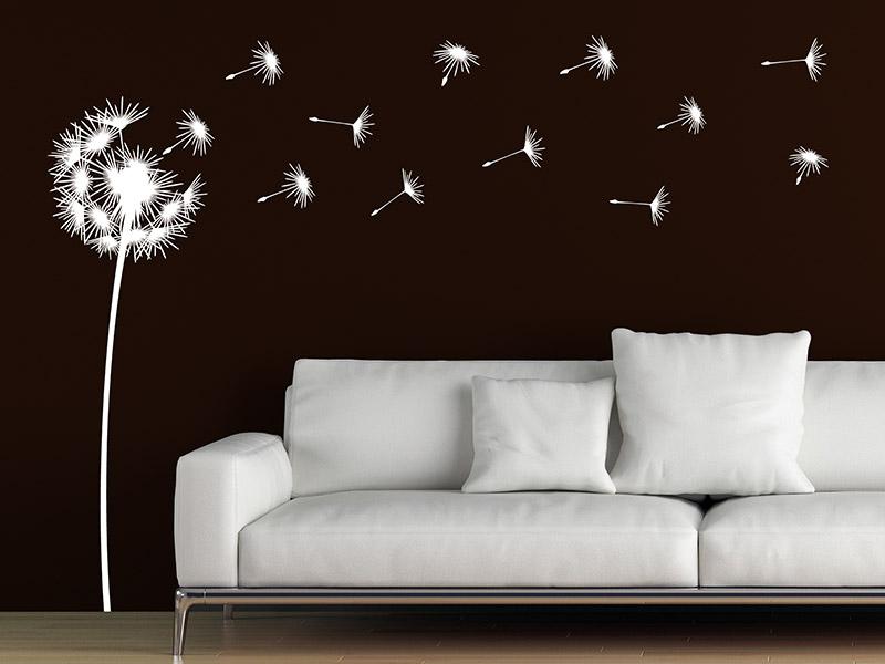 Pusteblumen Wandtattoos mit Schirmchen