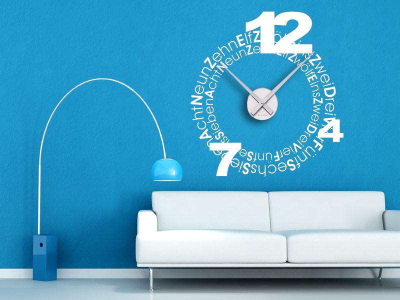 Wandtattoos Uhren mit Schrift