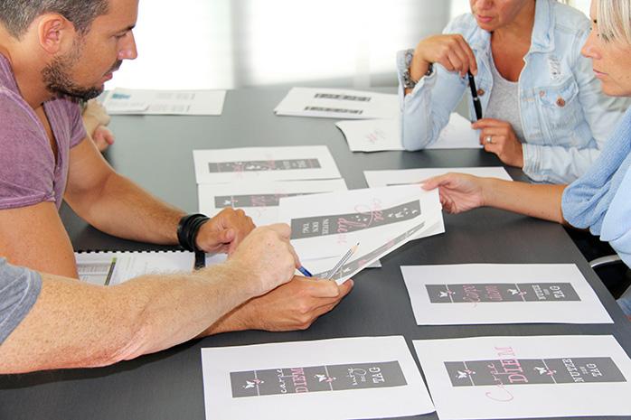 Designauswahl verschiedener Wandtattoo Entwürfe