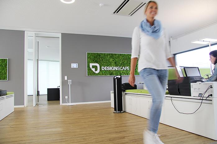 Eingang zum Chefbüro bei Designscape
