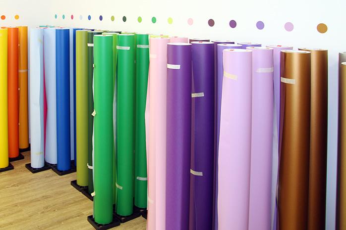 Wandtattoo Folie in verschiedenen Farben