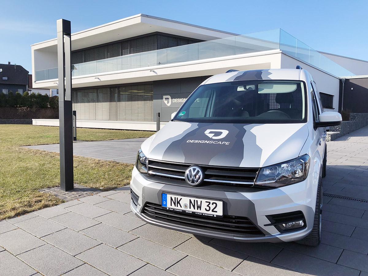 VW Caddy Maxi mit Autofolierung